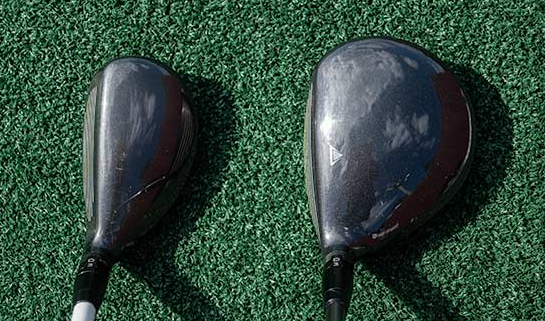 Hybrid and 5 Wood Side by Side